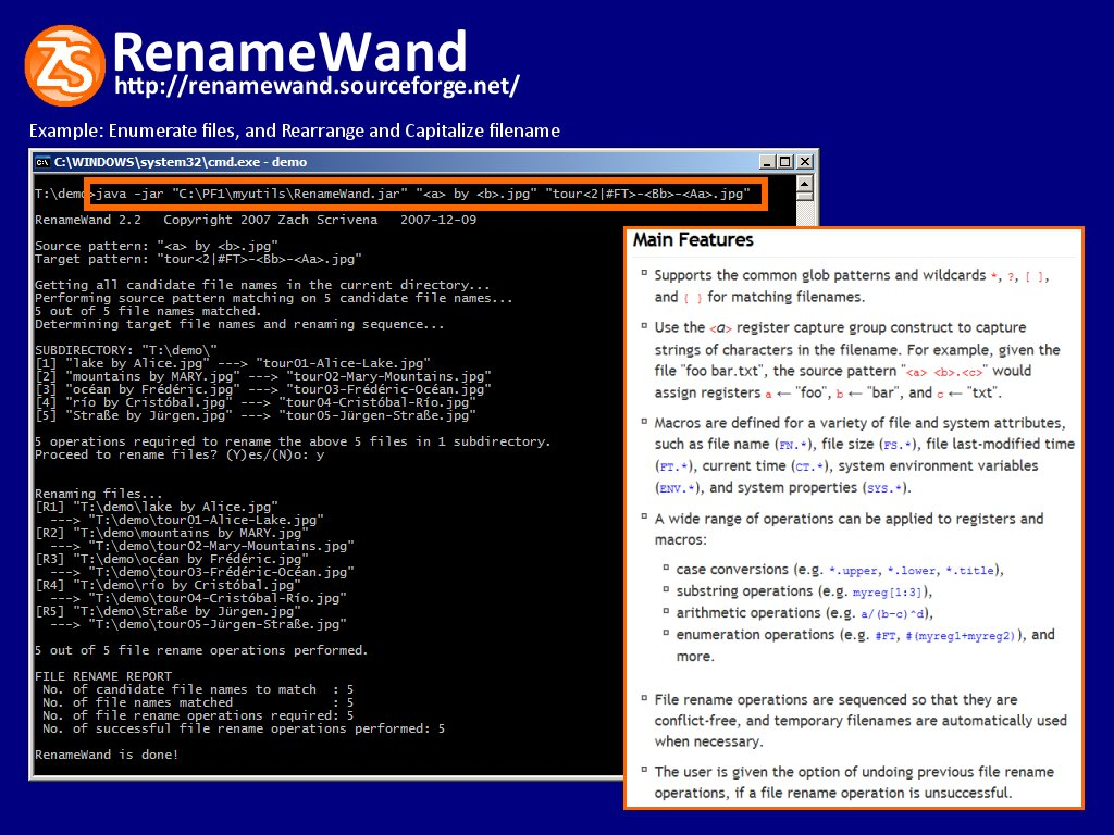 Free Command-line File Renaming Tool